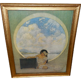 Maxfield Parrish Vintage Print of Pandora and the Box