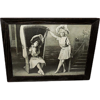 Black and White 1902 Print of The Belles of the Sea Shore