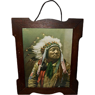 Photograph Print dated 1899 of Chief Painted Horse Ogalalla