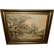 Scenery Print of Tree Lined Path in Handsome Frame