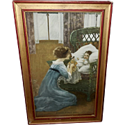 Baby's First Doll Vintage Print Dated 1913