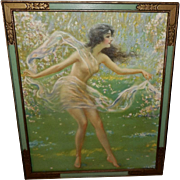 F. W. Read Vintage Print of Dancing Goddess or Nymph