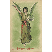 Vintage Easter Postcard of Angel - Lord is Risen