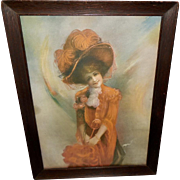 J. Ross Bryson Vintage Print of Coquette - Lady in Orange