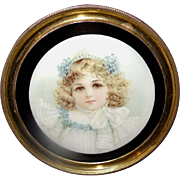 Frances Brundage Beautiful Girl in Small Vintage Flue Cover