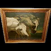 Vintage Color Print of Pharaoh's Three Arabian Horses