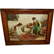 Francesco Ballesio Orientalist Print of Persian Carpet Dealer
