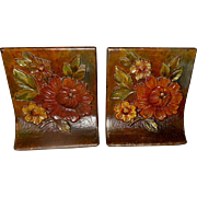 Albany Foundry Company Cast Iron Flower Bookends