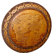 Pyrography Wood Plaque of Pharaoh's Horses