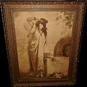 Heva Coomans Vintage Print of Pompeian Flower Girl