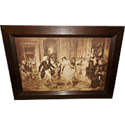 Toby Rosenthal Vintage Sepia Print of The Dancing Lesson