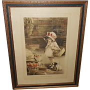 Meta Grimball Gutmann and Gutmann Print 715 Girl with Dog - The Forgotten Errand