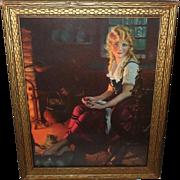 Gene Pressler Vintage Print of Cinderella