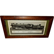 Photograph of Santa Fe Train in Wood Frame