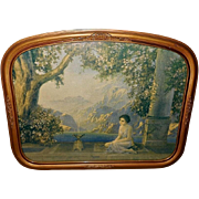 R. Atkinson Fox Vintage Print of Oriental Dreams in Curved Frame