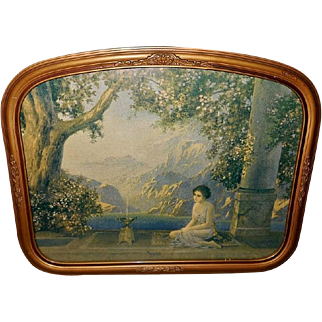R. Atkinson Fox Vintage Print of Oriental Dreams in Curved Frame