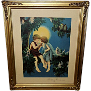 Bertram Basabe Vintage Print of Budding Romance