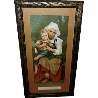William Bouguereau Vintage Print of The Sisters