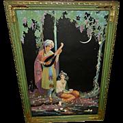 Marygold Vintage Print of Moonlight Serenade in Ornate Frame