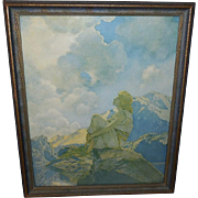 Maxfield Parrish Reinthal Newman Print of Morning