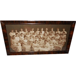 Vintage Photograph of Class of Thirty Women