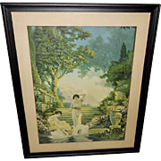 Chester Van Nortwick Vintage Print In the Garden of Dreams