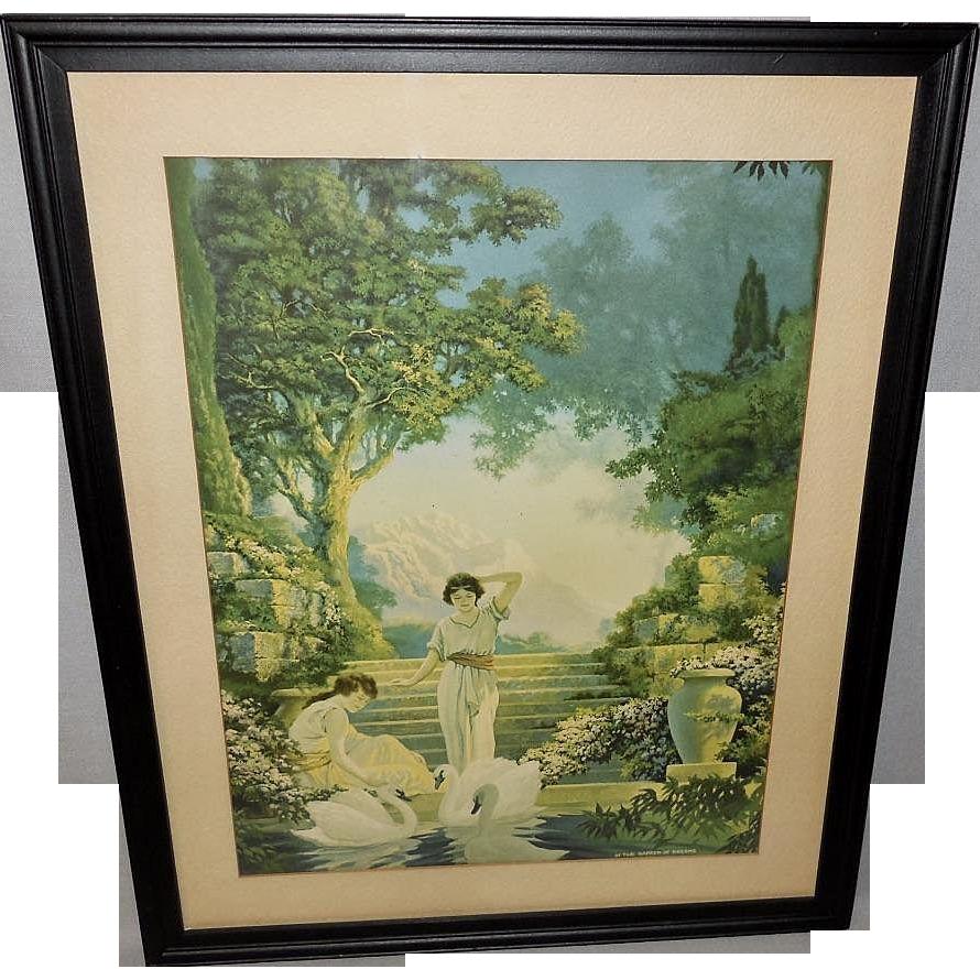 Chester Van Nortwick Vintage Print In the Garden of Dreams
