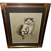 Gladys Emerson Cook Vintage Print of Black and White Kitten