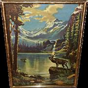 Vintage Calendar Print of Silvery Grandeur by George White - R. Atkinson Fox Pseudonym