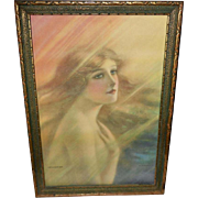 The Rainbow Girl Vintage Print by F. W. Read