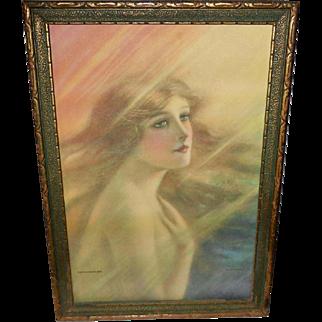 The Rainbow Girl Vintage Print by F. W. Read