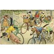 Max Kunzli Dressed Cats Postcard by Mainzer - Bike Bedlam