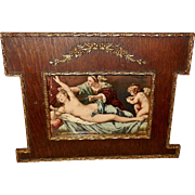 Embellished Frame With Classical Postcard of Diana and Jupiter - 1 of 2