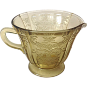 Federal Madrid Amber Depression Glass Creamer