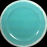 1960s Hull Crestone Turquoise Dinner Plate