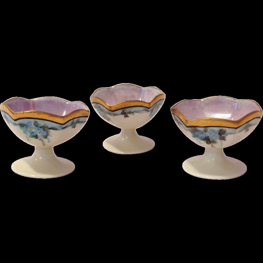 Noritake Nippon Porcelain  c. 1911 Pedestal Salt Dips