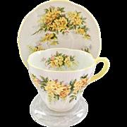 Royal Albert Laburnum Bone China Teacup and Saucer Blossom Time Series