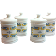 RediPlete Mid Century Milk Glass Apothecary Jar