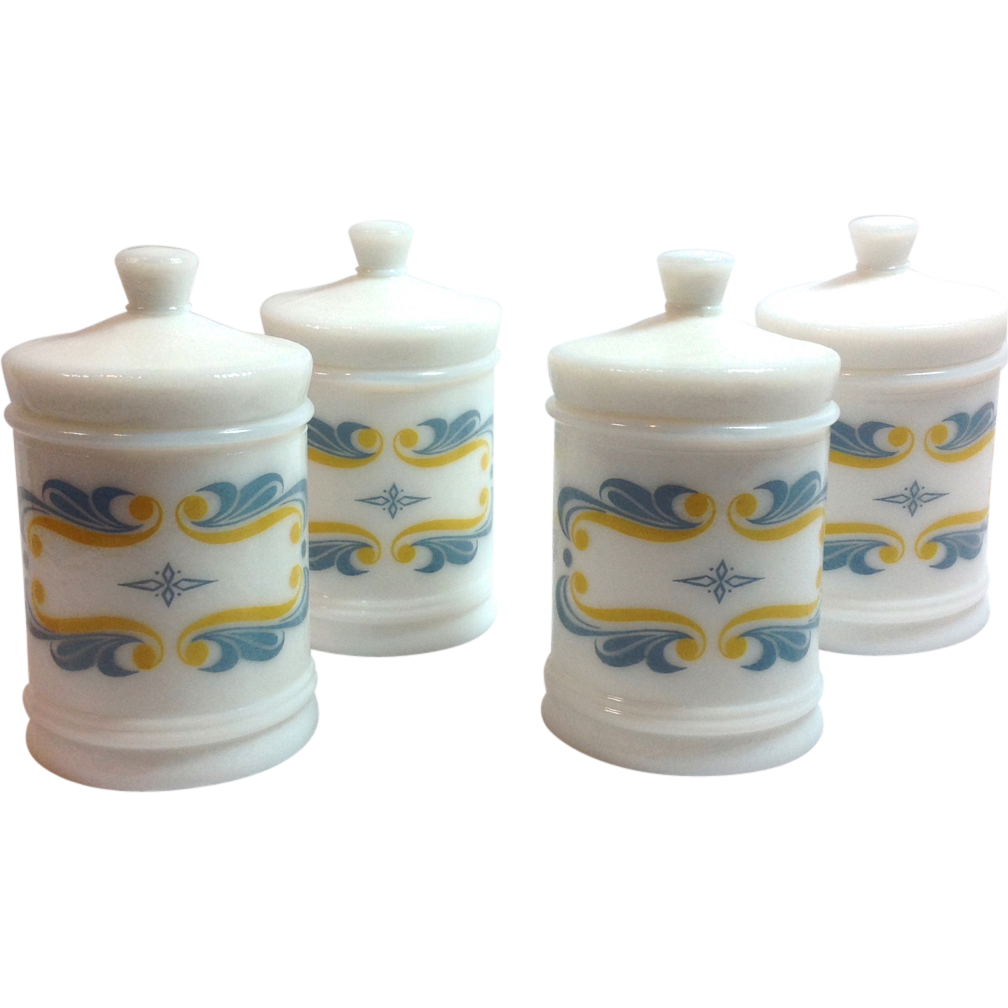 RediPlete Mid Century Milk Glass Pediatric Apothecary Jar