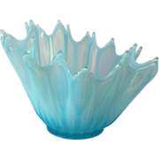 Fostoria Heirloom Ice Blue Opalescent 10 inch Glass Bowl