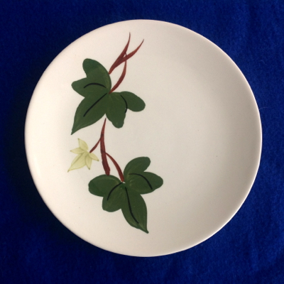 Southern Potteries Tennessee Blue Ridge Baltic Ivy Bread and Butter Plates - Set of Three
