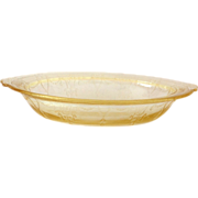 Hocking Cameo Ballerina Yellow Depression Glass Oval Vegetable Bowl