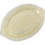 Hocking Cameo Yellow Depression Glass Oval Platter