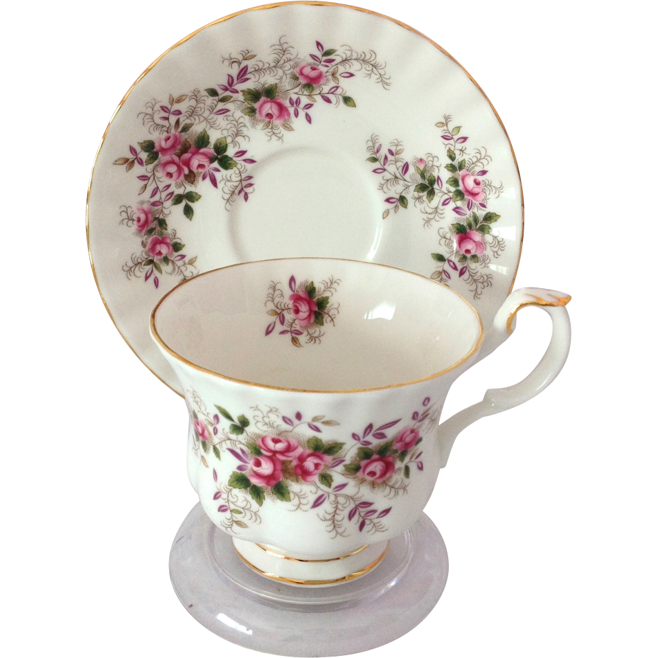 royal albert bone china lavender rose teacup and saucer from maggiebelles on ruby lane. Black Bedroom Furniture Sets. Home Design Ideas