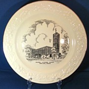 Circa 1950s Central Lutheran Church Portland Oregon Homer Laughlin Collectible Plate