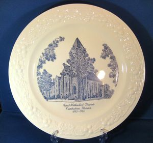 First Methodist Church Kankakee Illinois 1950s Homer Laughlin Theme Commemorative Plate