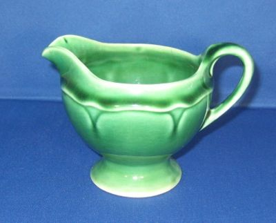 Mount Clemens Pottery Petal Dark Green Creamer