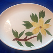 Stetson USA Golden Star Oval Platter Circa 1940s