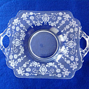 Cambridge Diane 6-Inch Two Handled Plate