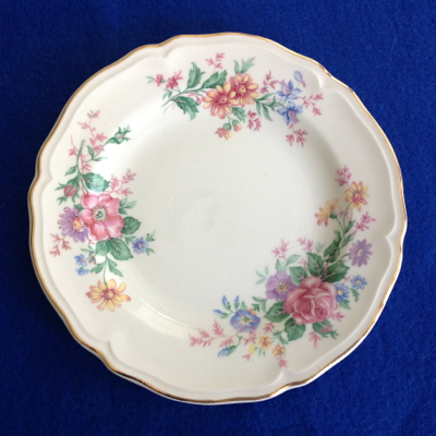 Knowles Columbia Floral Bread and Butter Plates	 - Set of Six